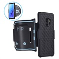 Samsung Galaxy S9 2-in-1 Detachable Sports Armband - Black