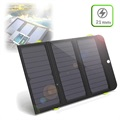 AllPowers AP-SP-002-BLA Solar Charger/6000mAh Power Bank - 21W, 2 x USB, USB-C