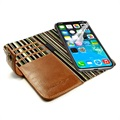 iPhone X / iPhone XS Alston Craig RFID Vintage Leather Case - Brown
