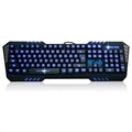 Aula Surprise Evil Gaming Keyboard with 7 Macro Keys - Black / Blue