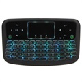 Backlit Wireless Keyboard / Touchpad for Smart TV A36 - Black