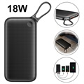 Power Bank Baseus 20000mAh USB-C PD+QC3.0 - 18W - Preto