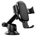 Baseus Gravity Car Holder / Qi Wireless Charger with Suction Mount WXYL-A01 - Black