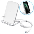 Baseus Rib Fast Wireless Charging Stand - 15W - White