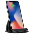Baseus Silicone Horizontal Qi Wireless Charger - Black
