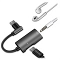Dux Ducis 2-in-1 USB-C / 3.5mm Headphones Adapter