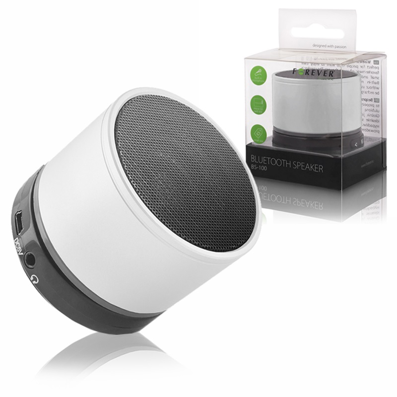 Forever Bs 100 Bluetooth Speaker White