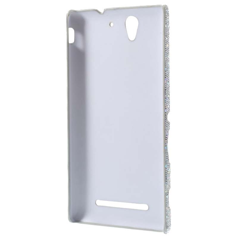 Sony xperia c3 xperia c3 dual glitter hard case silver reheart Images