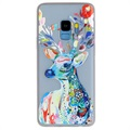 Luminous Samsung Galaxy S9 TPU Case - Deer with Flowers