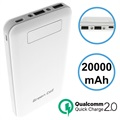 Power Bank Green Cell PB93 Qualcomm QC 2.0 - 20000mAh - Branca