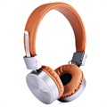 Hoco W2 Foldable Over-ear Headphones - 3.5mm - Brown