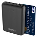 Power Bank Ksix Mini 10000mAh - 2xUSB - Preto