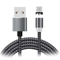 LED Magnetic Lightning Charging Cable - iPhone, iPad, iPod - Black