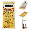 Liquid Glitter Series Samsung Galaxy S10 TPU Case - Gold