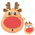 Love Mei Cartoon AirPods / AirPods 2 Silicone Case - Reindeer