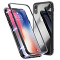 iPhone X Magnetic Case with Tempered Glass Back - Black