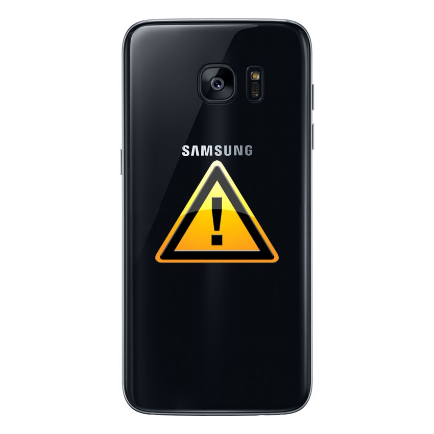 samsung galaxy s7 edge battery cover repair black. Black Bedroom Furniture Sets. Home Design Ideas