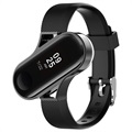 Xiaomi Mi Band 3 Silicone Band with Metal Case - Black