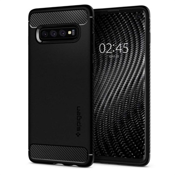 Spigen Rugged Armor Samsung Galaxy S10 Case - Black