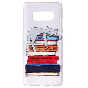 Capa Ultra Slim De Tpu Para Samsung Galaxy Note8 Gato