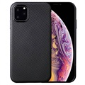 Ultra-Slim iPhone 11 Pro Max TPU Case - Carbon Fiber - Black