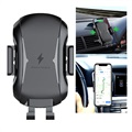 Universal Air Vent Car Holder / Qi Wireless Charger - Black