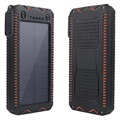 Universal Outdoor Power Bank / Solar Charger 10000mAh - Black / Orange