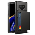 VRS Damda Glide Samsung Galaxy Note9 Cover with Card Holder - Black