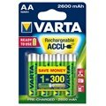 Pilha Recarregáveis Varta 5716 Power Mignon AA Ready 2 Use battery - 2600mAh - Ni-MH - 1,2V.
