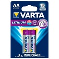 Varta Lithium AA Battery Pack 1.5V - 2 Pcs.