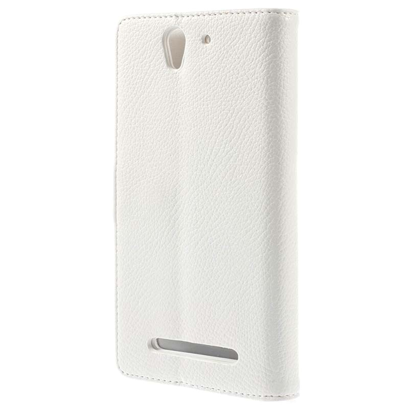 Sony xperia c3 c3 dual wallet leather case white reheart Gallery