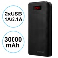 Power Bank com 2xUSB iMyMax Carbon MM-PB/006 - 30000mAh - Preto