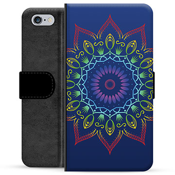 Bolsa tipo Carteira para iPhone 6 / 6S  - Mandala Colorida