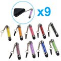 Glitter Mini Capacitive Stylus Pen with 3.5mm Plug - 9 Pcs.