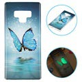 Luminous Samsung Galaxy Note9 TPU Case - Blue Butterfly