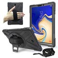 Samsung Galaxy Tab S4 Heavy Duty 360 Case with Hand Strap - Black